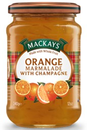 "Изображение Mackays - Orange Marmalade with Champaghe конфитюр ""Апельсин & Шампанское"" 340 г"
