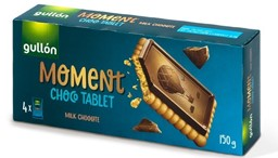 "Изображение Печенье Gullon ""Moment Choco Tablet - Молочный шоколад"""