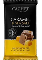 Изображение Cachet - Caramel & Sea Salt шоколад молочный с карамелью и морской солью 300 г